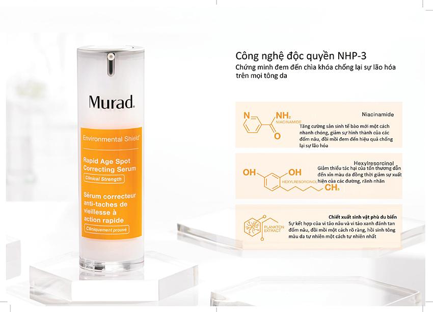 Rapid Age Spot Correcting Serum Serum điều trị đốm nâu và lão hoá do tác động của môi trường MuradVietnam 1
